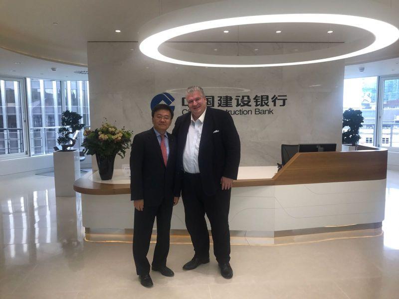 Naujoks im Gespräch mit dem Chairman der China Construction Bank