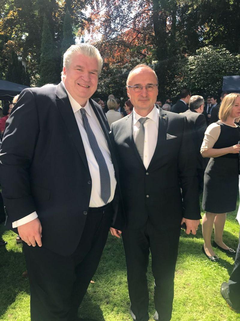Naujoks beim polnischen Botschafter in Berlin