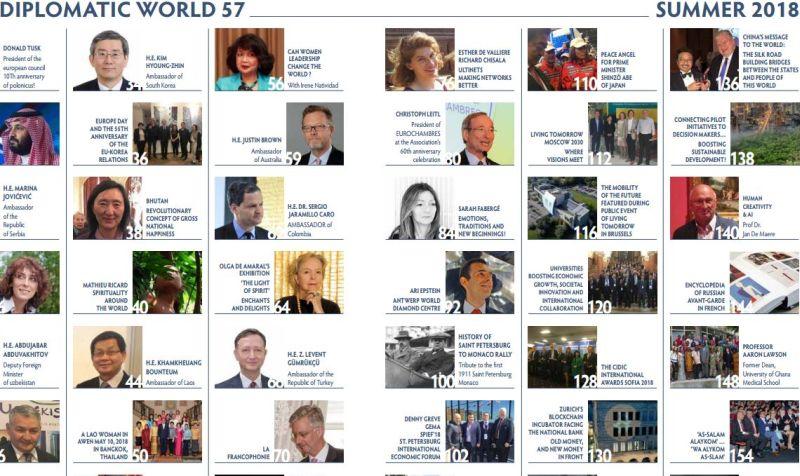 """Naujoks im Interview in der """"Diplomatic World"""""""