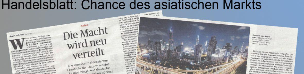 Naujoks im Handelsblatt: Seine Erfolgsformel für China